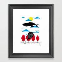 CIAO SIGNORA BALENA Framed Art Print