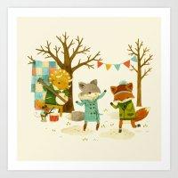 Critters: Spring Dancing Art Print