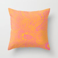 Scribblez Throw Pillow