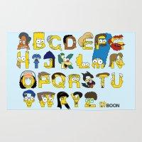 Simpsons Alphabet Rug