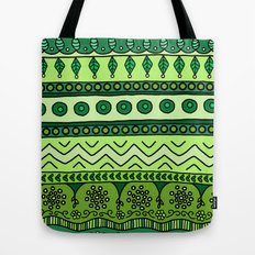 Yzor pattern 003 green Tote Bag