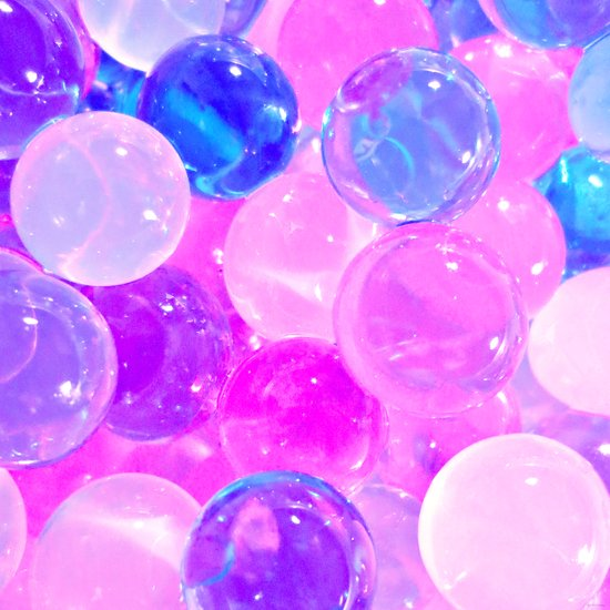 GLISTENING BUBBLY PINK BUBBLES Art Print