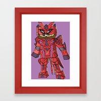 Phantasy Block - Minecra… Framed Art Print