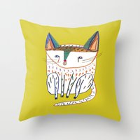 Cat. cats, kitten, cat art, cat illustration, cat pattern Throw Pillow