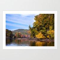 Fall River Vistas - New England Art Print