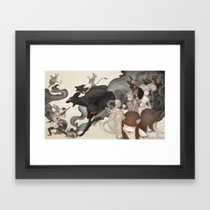 Internal Conflict Framed Art Print