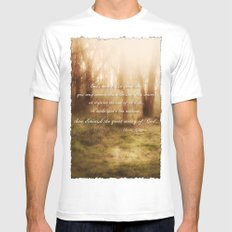 Forrest White Mens Fitted Tee SMALL