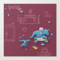 Bath Time Canvas Print