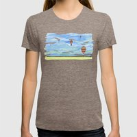 Float Away Womens Fitted Tee Tri-Coffee SMALL