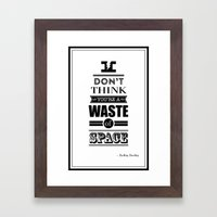 HP Quotes - Deathly Hall… Framed Art Print