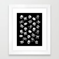 Cute Skull Framed Art Print