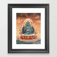 Buddha Bot V6.5 Framed Art Print
