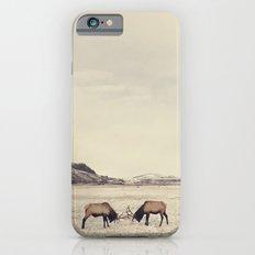 Sparring Elk in Wyoming - Wildlife Photography iPhone 6 Slim Case