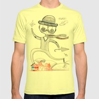 Arrival Of Winter Mens Fitted Tee Lemon SMALL