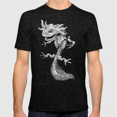 Axolotl Skeleton Mens Fitted Tee Tri-Black SMALL