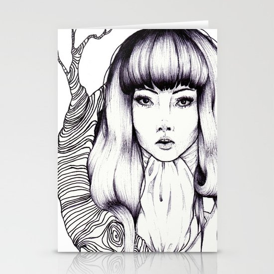 Tree Woman Stationery Card