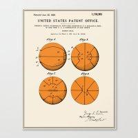 Basketball Patent Canvas Print
