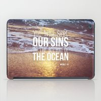 Micah 7:19 iPad Case