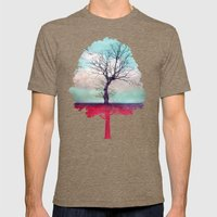 ATMOSPHERIC TREE | Longi… Mens Fitted Tee Tri-Coffee SMALL