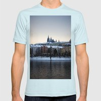 Prague Castle Mens Fitted Tee Light Blue SMALL