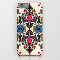Bright Folk Art Pattern - hot pink, orange, blue & green iPhone & iPod Case