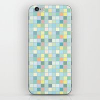Pastel Squares iPhone & iPod Skin