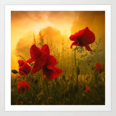Red For Love Art Print
