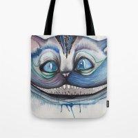 Cheshire Cat Grin - Alic… Tote Bag