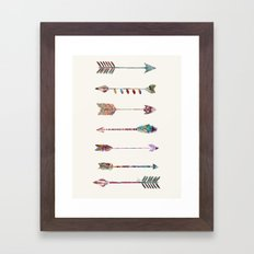 seven arrows Framed Art Print