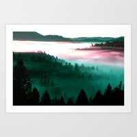 mountains Art Prints featuring Mountains by 2sweet4words Designs