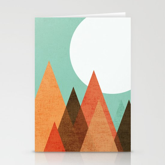 From the edge of the mountains Stationery Card
