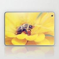Bee on Yellow Laptop & iPad Skin