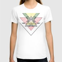 siamo tyrex Womens Fitted Tee White SMALL