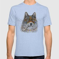 Cherokee Wolf Mens Fitted Tee Athletic Blue SMALL