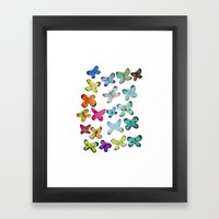 For A Friend: Butterflies Framed Art Print
