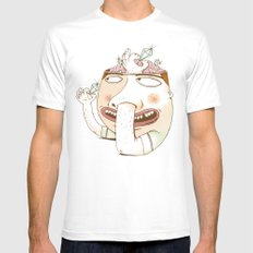 Diggin' for Diamonds White SMALL Mens Fitted Tee
