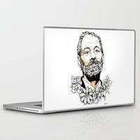 bill murray Laptop & iPad Skins featuring Bill F***ing Murray. by ellaclawley