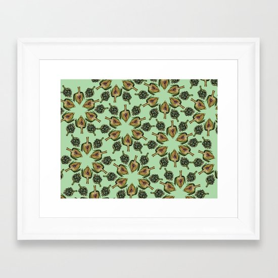 Swirling Artichokes Framed Art Print