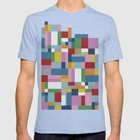 Map Tex Mens Fitted Tee Tri-Blue SMALL