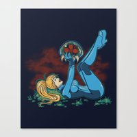 Lucky Metroid Canvas Print