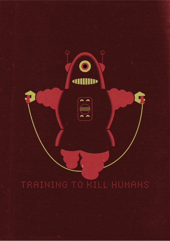 Training to kill humans. Art Print