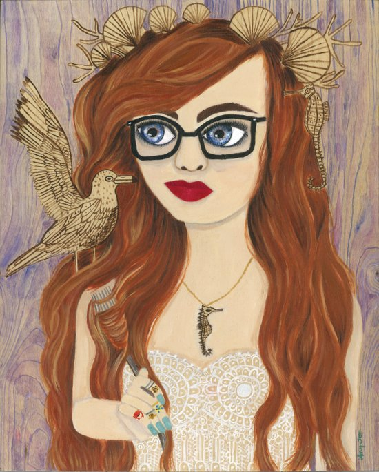 Hipster Ariel Canvas Print