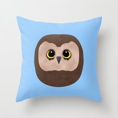 Chubby Little Owl Throw Pillow