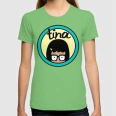 Tina Womens Fitted Tee Grass SMALL
