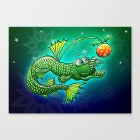 Christmas Abyssal Angler Fish Canvas Print