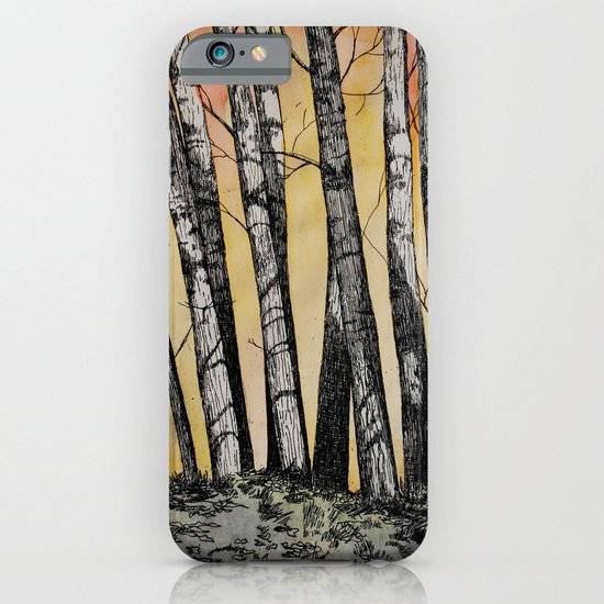 Row of Trees iPhone & iPod Case