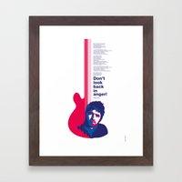 Noel Gallagher - Don't Look Back In Anger Framed Art Print