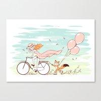 Spring Ride Canvas Print