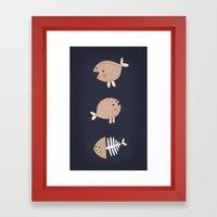 fish emotions. Framed Art Print