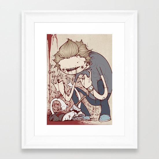 All hell Framed Art Print